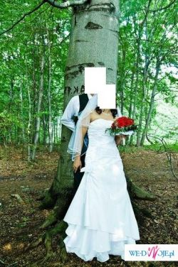 śliczna i wygodna biała suknia ślubna