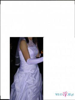 Śliczna i wygodna suknia ślubna - polecam!