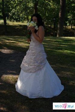 Śliczna i wyjątkowa sukienka ślubna rozm. 38
