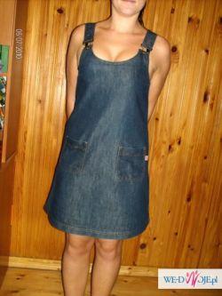 sliczna jeansowa sukienka