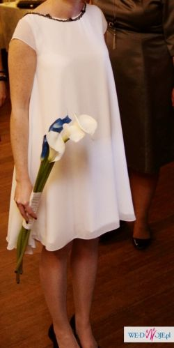 Śliczna, klasyczna, dziewczęca suknia ślubna!