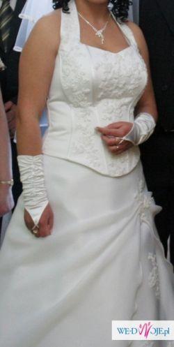 śliczna klasyczna sukienka ślubna