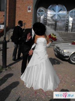 Śliczna, kremowa suknia ślubna ,rozm.38