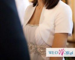 Śliczna muślinowa suknia ślubna + dodatki