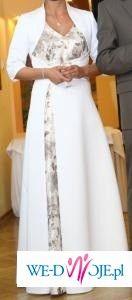 śliczna,oryginalna suknia ślubna +bolerko  gratisy dla Pana
