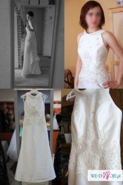 Śliczna prosta suknia ślubna- Okazja!