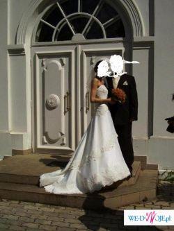 Śliczna, romantyczna suknia ślubna