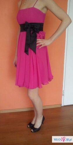 Śliczna różowa sukienka w idealnym stanie