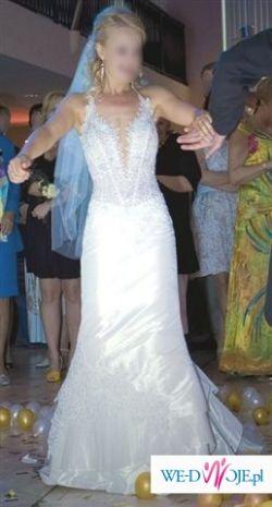 Śliczna, seksowna suknia ślubna!!!OKAZJA