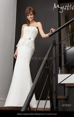 Śliczna stylowa suknia ślubna w rozmiarze 38