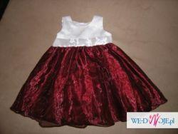 Śliczna sukieneczka dla małej księżniczki rozm. 3-6 mc