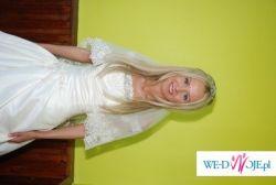 Śliczna sukieneczka ślubna rozmiar 34