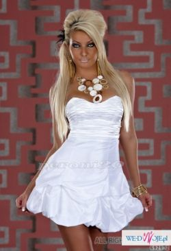 sliczna sukienka bombka wesele slub elegancka!! 36