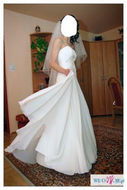 śliczna sukienka ślubna do sprzedania!!