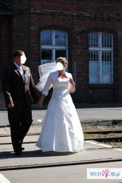 Śliczna sukni ślubne ecru!