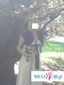 sliczna suknia ciazowa slubna