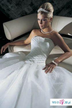 śliczna suknia Cosmobella + dodatki