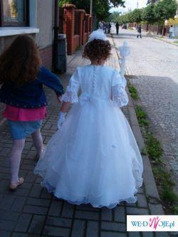 Śliczna suknia komunijna