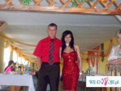 śliczna suknia roz 36-38 czerwona