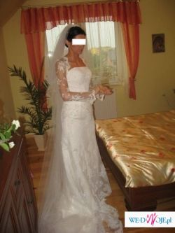 Sliczna suknia San Patrick - Rondalla z bolerkiem!!