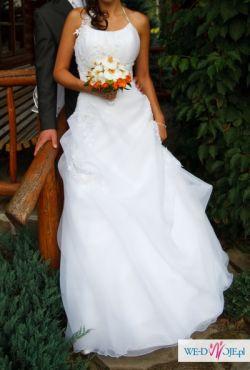 Śliczna suknia ślubna!!!:)