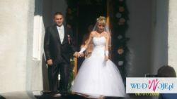 Śliczna suknia ślubna 34/36 warto!!