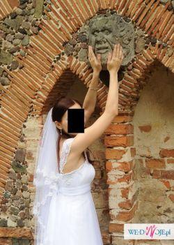 Śliczna suknia ślubna 38/170 biała