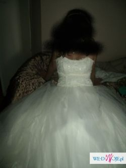 Śliczna suknia ślubna 38 cremowa
