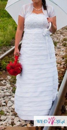 Śliczna suknia ślubna 42/44 + bolerko