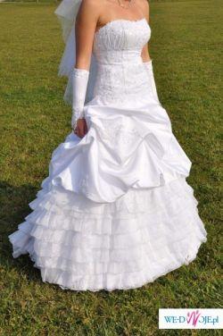 Śliczna suknia ślubna!!!!