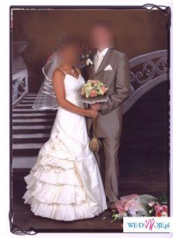 Śliczna suknia ślubna Adelaide; kolor: ecru