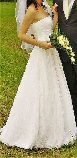 Śliczna Suknia Ślubna AGNES 34/36 + dodatki