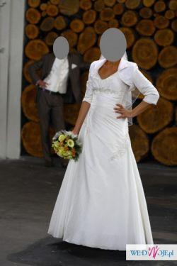 Śliczna suknia ślubna Angelia, welon i bolerko GRATIS