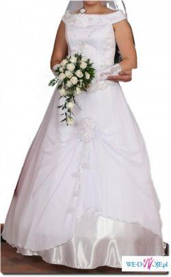 54b59515b8 śliczna suknia ślubna biała 42 44 dla wysokiej - Suknie ślubne ...