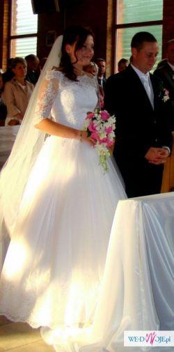ŚLICZNA!!! Suknia ślubna biała rozmiar M