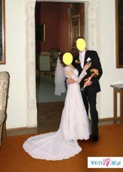 Śliczna suknia ślubna, cała z koronki - OKAZJA!!