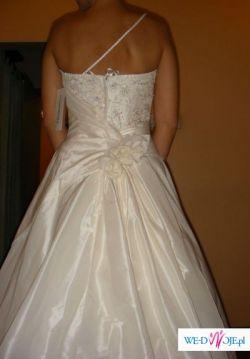 śliczna suknia ślubna cosmobella 7252, rozm 6 (36/38) biała, niezwykle kobieca