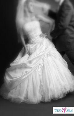 śliczna suknia ślubna Demetrios 2747