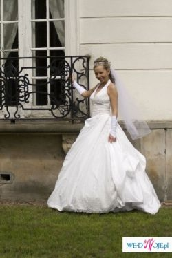 Śliczna Suknia Ślubna Demetrios 925!!!