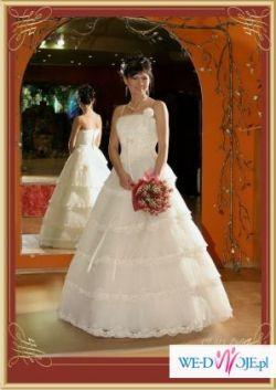 śliczna suknia ślubna dla filigranowej kobietki + wszystkie dodatki