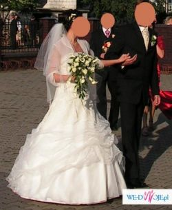 Śliczna suknia ślubna firmy MS MODA, model MISS z kolecji 2007