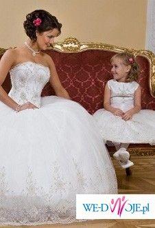 ŚLICZNA SUKNIA ŚLUBNA model księżniczka Angel Darren