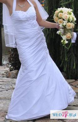 Śliczna suknia ślubna na małą kobietkę !! + GRATIS