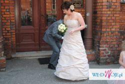 Śliczna suknia ślubna na ślub kościelny lub cywilny