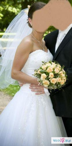 Śliczna suknia ślubna Princessa + welon gratis