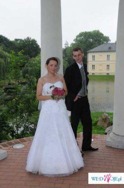 Śliczna suknia ślubna rozm.40