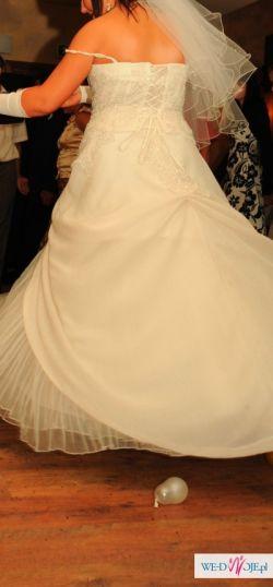 śliczna suknia ślubna rozm. 42