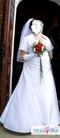 Śliczna suknia ślubna rozm.46