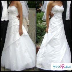 Śliczna suknia ślubna rozmiar 34, na wzrost 165-170