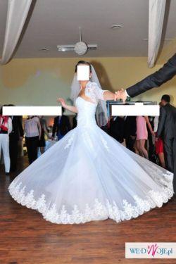 Śliczna suknia ślubna rozmiar 38 - tanio!